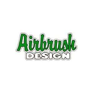 Airbrush Design Window Cling Sign