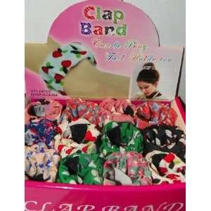 Fabric Slap Pony Tail Holder   Box of 24 Toys & Games