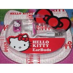 HELLO KITTY EARBUDS FOR IPOD IPAD IPHONE AND GAMING SYSTEM