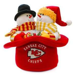 Kansas City Chiefs Snowmen Top Hat Show Off Your Holiday