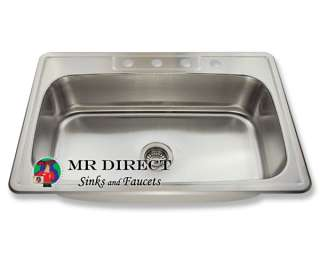 Topmount Stainless Steel Single Bowl Kitchen Sink