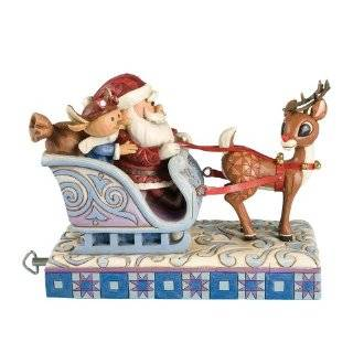 Rudolph Jim Shore Christmas from Enesco Rudolph & Santa & Elf / Sleigh