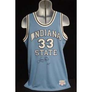 Larry Bird Signed Jersey   Indiana State UDA Cert