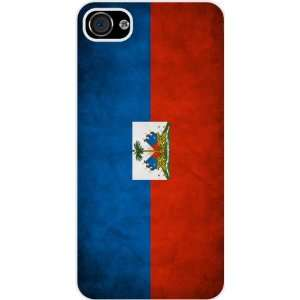 Rikki KnightTM Haiti Flag White Hard Case Cover for Apple