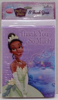 The Princess & the Frog 8 Birthday Party Thank You Cards Envelopes