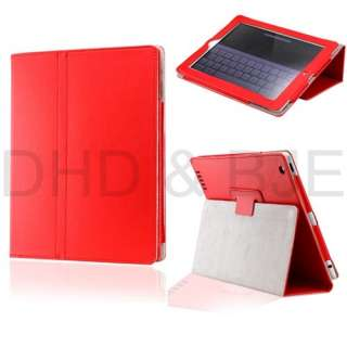 New Folio PU Leather Case Cover with Stand for The New iPad 3 & 2