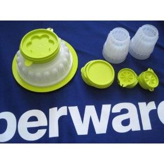 Tupperware Festive Jel Ring Jello Mold & Four Mini Jellettes Set