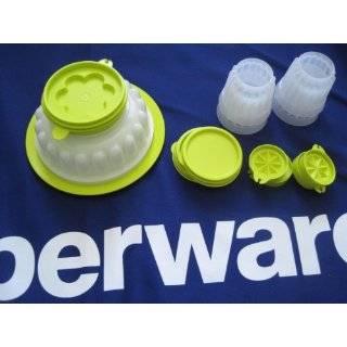 Tupperware Festive Jel Ring Jello Mold & Four Mini Jellettes Set