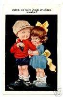 ARS. BUTCHER POSTCARD BOY AND GIRL BE BEST FRIENDS