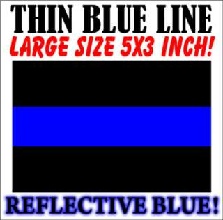 listing is for 1 one large size 5 x3 inch thin blue line fop police