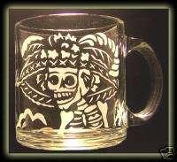 Day Of The Dead Catrina Skull Art Clear Coffee Tea Mug