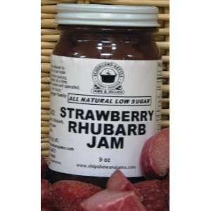 Strawberry Rhubarb Jam, All Natural/Low Sugar, 18 oz