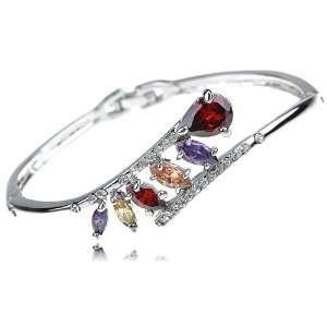 Inspired Swarovski Crystal Element Bejeweled Teardrop Bracelet