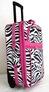 Piece Luggage Set Travel Bag Rolling Case Wheel Upright Pink Zebra