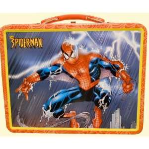 Marvel Comics Spiderman Lunch Box Tin Container:  Kitchen