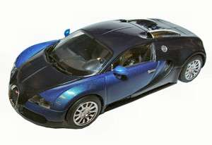 Scalextric 1/32 Black + Blue Bugatti Veyron DPR Slot Car C3199