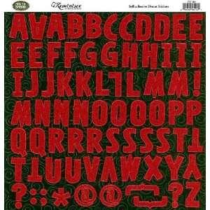 Cane Christmas Glitter Sticker Sheet, Alphabet Arts, Crafts & Sewing