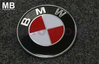 Red BMW Emblem Badge 82mm E36 M3 E34 E30 E60 M5 E63 E38