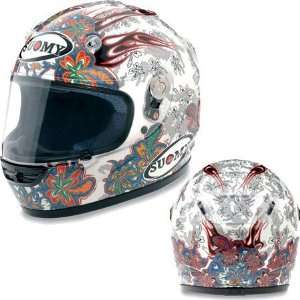 Suomy Vandal Flower Full Face Helmet X Large  Off White Automotive