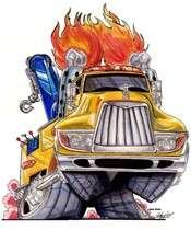 Mack Tow Truck Hot Rod Cartoon Tshirt #9000 Hauler
