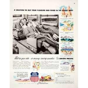 1951 Ad Union Pacific Railroad Streamliner Train Railway