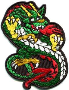 Chinese dragon kung fu martial arts biker tattoo applique iron on