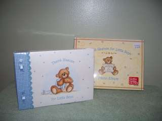 GUND * BABY BOY PHOTO ALBUM * TEDDY BEAR / NEW