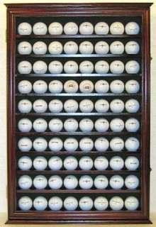 80 Golf Ball Display Case Holder Rack Wall Cabinet, glass door, GB80