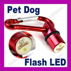 Dog Cat Pet Safety Red Flash LED Light Collar Tag New Aluminum