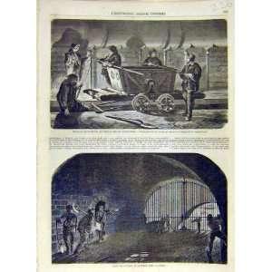 1858 Sebastopol Underground Tunnel Seine French Print