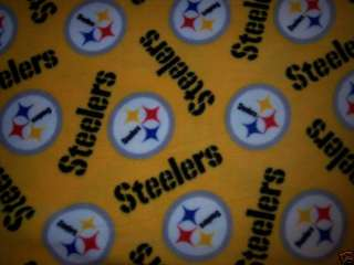 NEW Pittsburgh Steelers Baby Blanket Toddler fleece yellow football