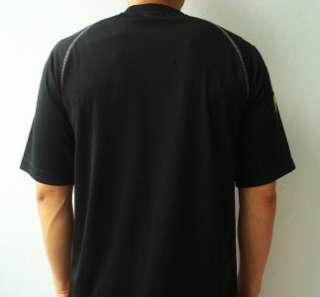 KAPPA Athletic Mens Football Soccer Jersey Shirt Black M
