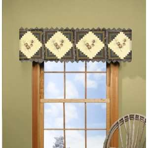 Donna Sharp Barn Raising Pine Cone Hand Quilted Valance or