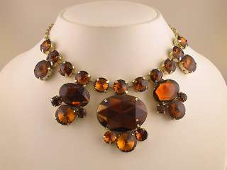Smoked Topaz Colored Beads Necklace Earrings Set s0120