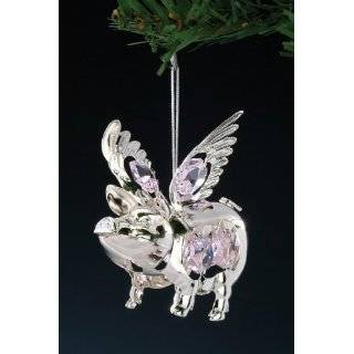 When Pigs Fly Flying Winged Pig Too Cute Christmas Ornaments