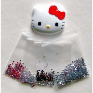 com DIY Red Bow Hello Kitty Face Bling Bling Flatback Resin Cabochons