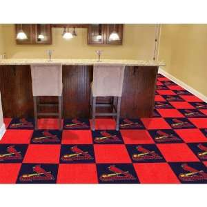 Saint Louis Cardinals MLB Team Logo Carpet Tiles Sports