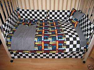 NASCAR RACING CARS BABY NURSERY CRIB BEDDING CUSTOM NEW