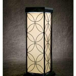 Portable Black Steel Floral Solar LED Table Lamp