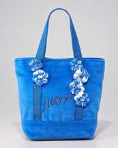 Juicy Couture Crest Embroidered Tote Bag, Heather Cozy
