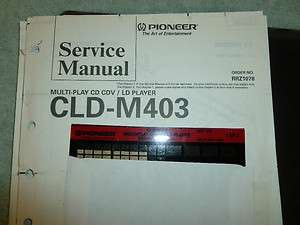 Pioneer LASER DISC Player CLD M403   Original SERVICE MANUAL