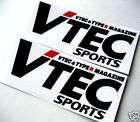 JDM Vtec Sports Type R Racing Decal Sticker FD EK blk items in jdm