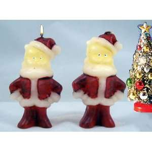 SANTA CLAUS Candles Gift Boxed Christmas Gurley Repro