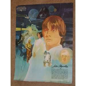 Luke Skywalker 1977 Promotional Poster 18 x 24 Rolled Everything Else