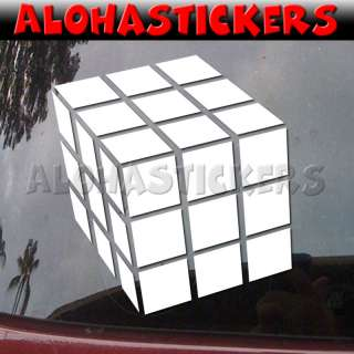RUBIKS CUBE Vinyl Decal Rubik Car Window Sticker M147