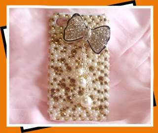 Diamond Bow Bling Hard Protect Case Cover For Apple iPhone 4 4G