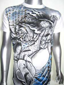 Japanese Geisha Samurai Warrior Tattoo MMA Art T Shirt