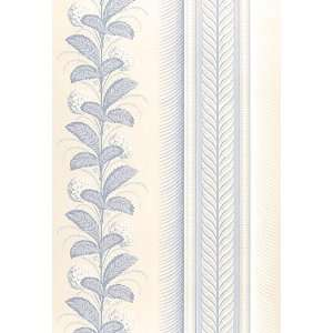 Hydrangea Drape Blue by F Schumacher Wallpaper