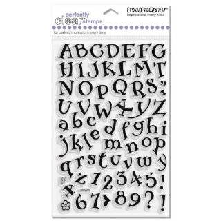 Inkadinkado Curly Q Alphabet Clear Stamps Arts, Crafts