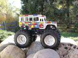 Hot Wheels Custom Monster Jam Partridge Family SkoolBus